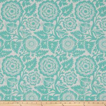Ткань 45х55 см - Free Spirit - Модерн - Цветы - Голубой