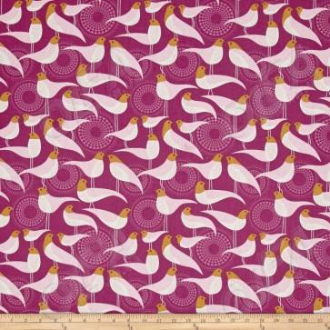 Ткань 45х55 см - Free Spirit - Модерн - Жердочка - Розовый