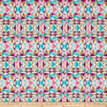 Ткань 45х55 см - Free Spirit - Модерн - Призма - Розовый