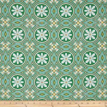 Ткань 45х55 см - Free Spirit - Модерн - Мозаика - Изумрудный
