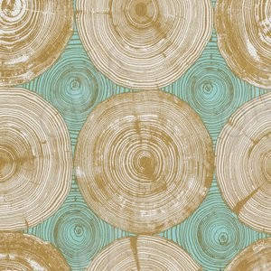 Ткань 45х55 см - Free Spirit - Модерн - Срез дерева - Горчичный