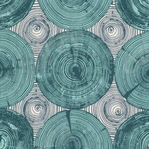 Ткань 45х55 см - Free Spirit - Модерн - Срез дерева - Зеленый