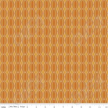 Ткань 45х55 см - Riley Blake - Симметрия - Оранжевые круги