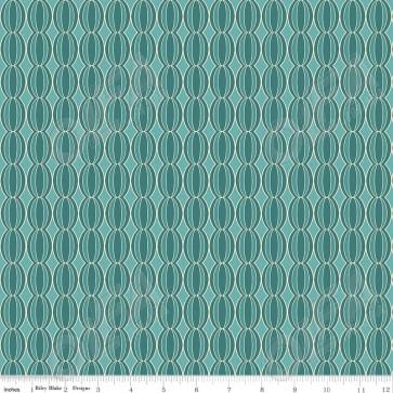 Ткань 45х55 см - Riley Blake - Симметрия - Зеленые круги