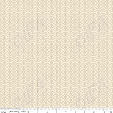 Ткань 45х55 см - Riley Blake - Симметрия - Кремовые пересечения