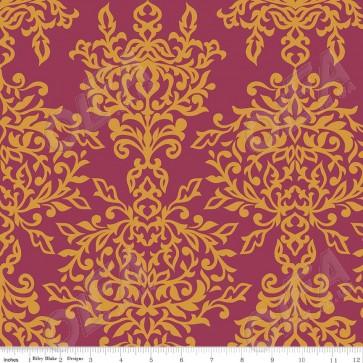 Ткань 45х55 см - Riley Blake - Симметрия - Ажур - Ягодный