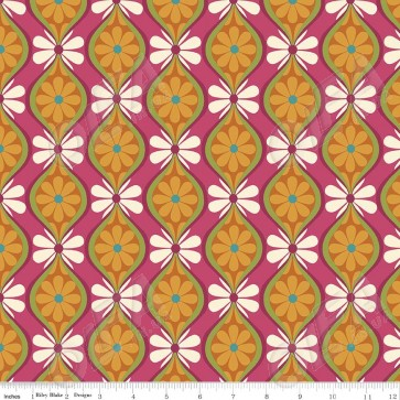 Ткань 45х55 см - Riley Blake - Симметрия - Цветочные полосы - Мультицвет