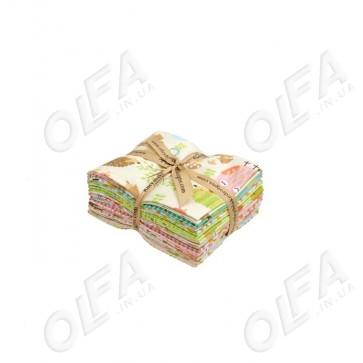 Ткань 45х55 см - Riley Blake - Лесные друзья совы - Набор