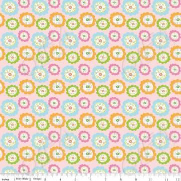 Ткань 45х55 см - Riley Blake - Совушкины цветы - Розовый