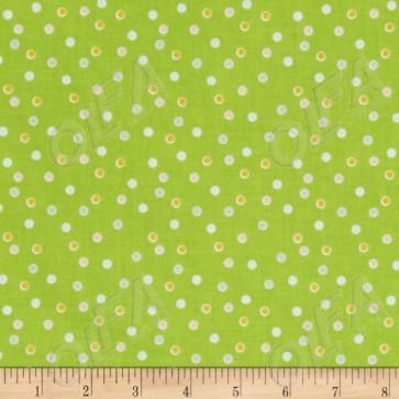 Ткань 45х55 см - Riley Blake - Сладкий сад - Точки - Зеленый