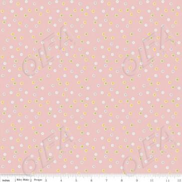 Ткань 45х55 см - Riley Blake - Сладкий сад - Точки - Розовый