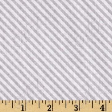 Ткань 45х55 см - Riley Blake - Сладкий сад - Полосы - Серый