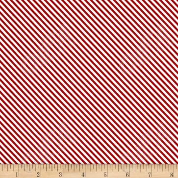Ткань 45х55 см - Riley Blake - Сладкий сад - Полосы - Красный