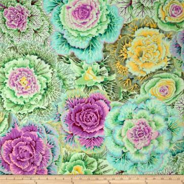 Ткань 45х55 см - Rowan - Цветочный плен - Болото