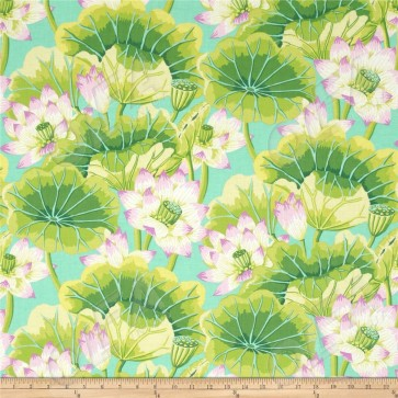 Ткань 45х55 см - Rowan - Цветочное озеро - Зеленый