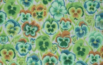 Ткань 45х55 см - Rowan - Анютины глазки - Зеленый