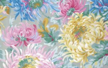Ткань 45х55 см - Rowan - Лохматые цветы - Серые