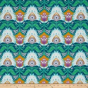 Ткань 45х55 см - Free Spirit - Модерн - Аврора - Зеленый