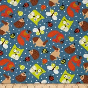 Ткань 45х55 см - Moda - Счастливое сияние - Веселые зверюшки на озере