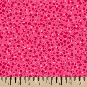 Ткань 45х55 см - Patrick Lose - Пузырики - Красный - Малина