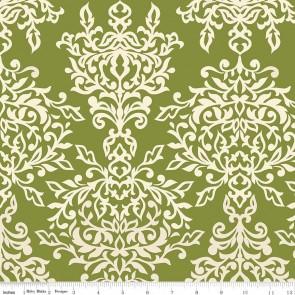Ткань 45х55 см - Riley Blake - Симметрия - Ажур - Зеленый