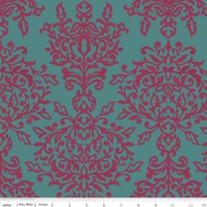 Ткань 45х55 см - Riley Blake - Симметрия - Ажур - Голубой