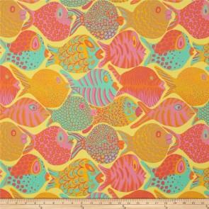 Ткань 45х55 см - Rowan - Коралловые рыбки - Желтые