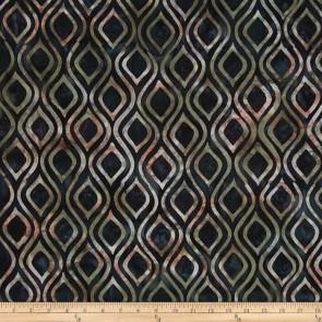 Ткань 45х55 см - Timeless Treasures - Батик - Нарядный синус