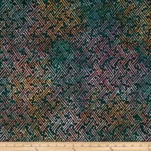 Ткань 45х55 см - Timeless Treasures - Батик - Джунгли