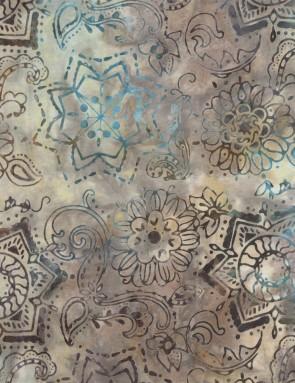 Ткань 45х55 см - Timeless Treasures - Вышивка батик - Минерал
