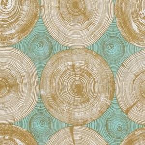 Тканина 45х55 см - Free Spirit - Модерн - Зріз дерева - Гірчичний