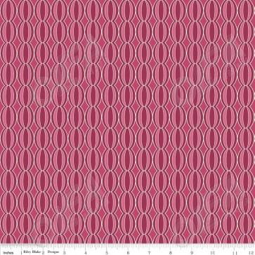 Тканина 45х55 см - Riley Blake - Симетрія - Ягідні кола