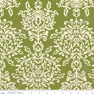 Тканина 45х55 см - Riley Blake - Симетрія - Ажур - Зелений