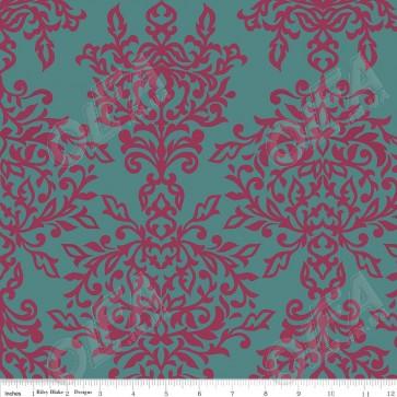 Тканина 45х55 см - Riley Blake - Симетрія - Ажур - Блакитний