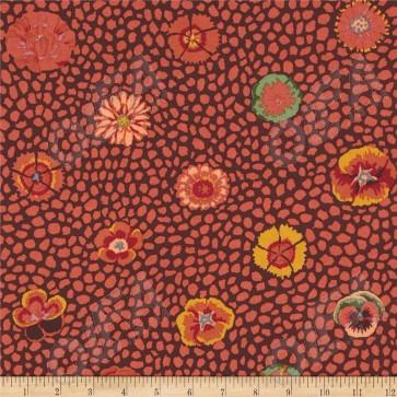 Ткань 45х55 см - Rowan - Цветок Гвинеи - Коричневый