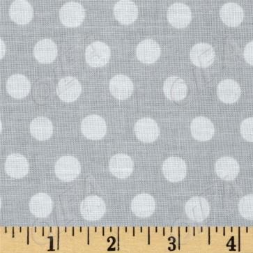 Ткань 45х55 см - Rowan - Точки - Серебро