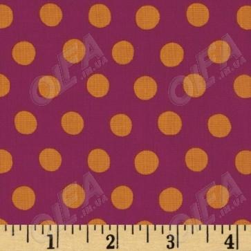 Ткань 45х55 см - Rowan - Точки - Пурпурный
