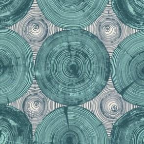 Тканина 45х55 см - Free Spirit - Модерн - Зріз дерева - Зелений