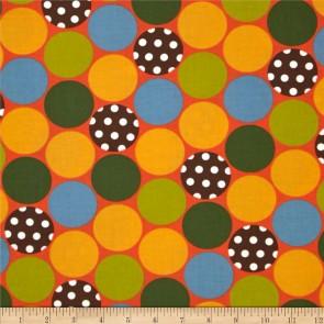 Ткань 45х55 см - Moda - Счастливое сияние - Счастливые горошинки на закате солнца