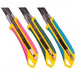 Сегментный нож 18 мм Olfa L7-AL (розовый, зеленый, синий)