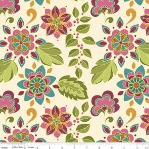 Тканина 45х55 см - Riley Blake - Симетрія - Квіти - Мультиколір
