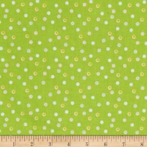 Тканина 45х55 см - Riley Blake - Солодкий сад - Точки - Зелений