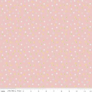 Тканина 45х55 см - Riley Blake - Солодкий сад - Точки - Рожевий