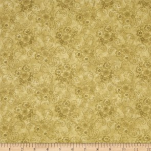 Ткань 45х55 см - RJR Fashion Fabrics - Шантильи - Горчичный