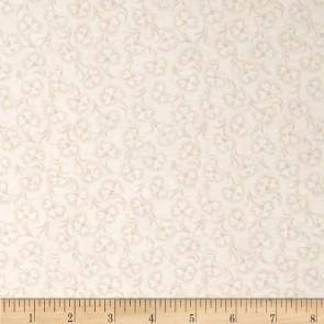 Ткань 45х55 см - RJR Fashion Fabrics - Кремовый цветок