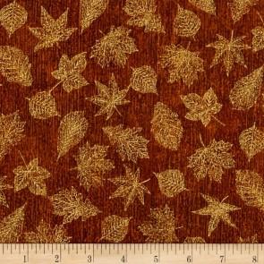 Ткань 45х55 см - Robert Kaufman - Оттенки сезона - Золотая листва - Золото