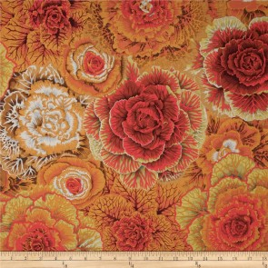 Ткань 45х55 см - Rowan - Цветочный плен - Коричневый
