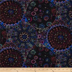 Ткань 45х55 см - Rowan - Цветочные круги - Темный