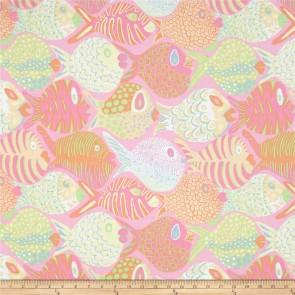 Ткань 45х55 см - Rowan - Коралловые рыбки - Розовые
