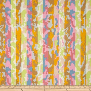 Ткань 45х55 см - Rowan - Полосатый камуфляж - Лиловый